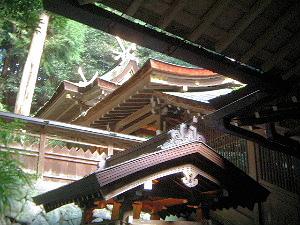 狭井神社拝殿後方