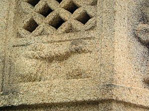 十輪院の石灯籠の夫婦岩