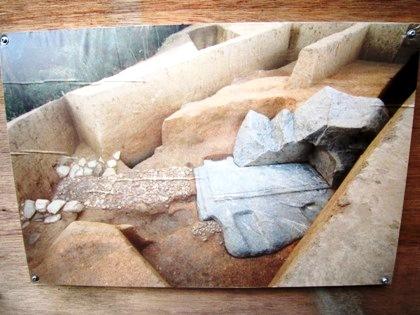 発掘現場の写真