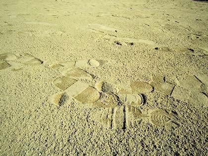 広瀬神社拝殿前の砂