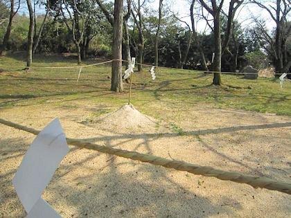 相撲神社土俵の紙垂