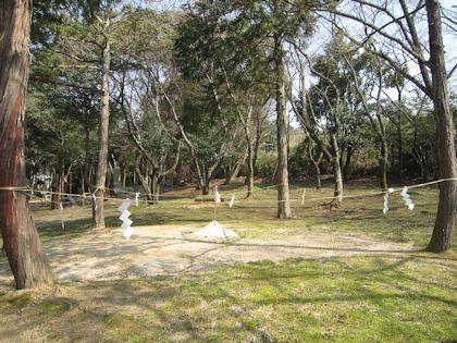 相撲神社の土俵
