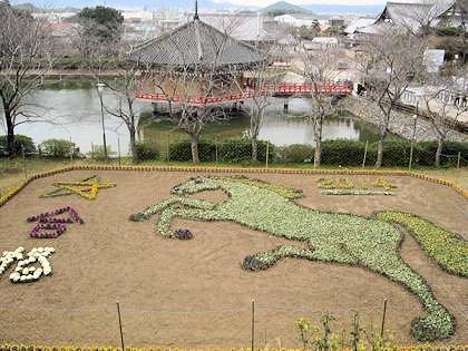 午年のジャンボ花絵