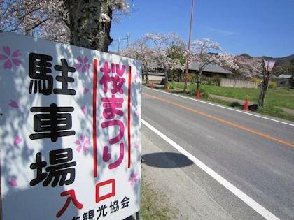 石上神宮の桜まつりの駐車場