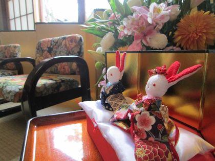 兎の飾り物