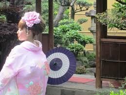 番傘と和装前撮り