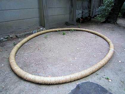 坐摩神社の茅の輪