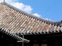 元興寺の行基葺き瓦