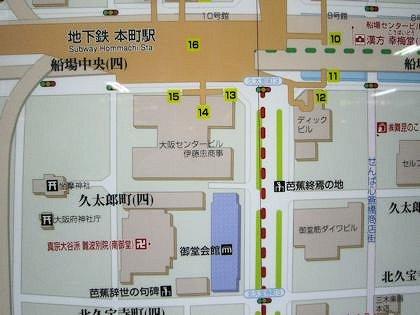坐摩神社周辺地図