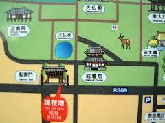 東大寺転害門の周辺地図