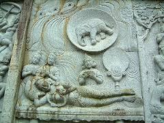 壷阪寺の仏伝図レリーフ