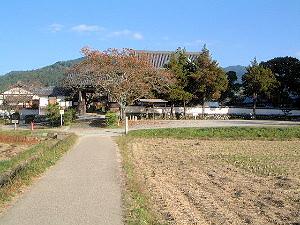 橘寺と明日香村の風景