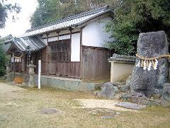 甘樫坐神社の立石
