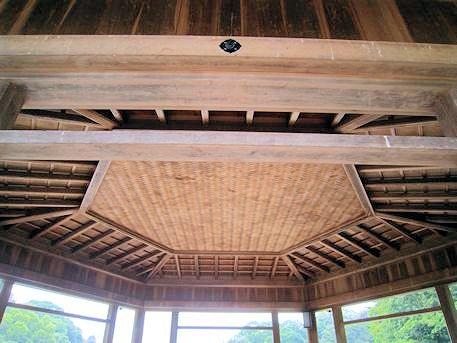 浮見堂の天井