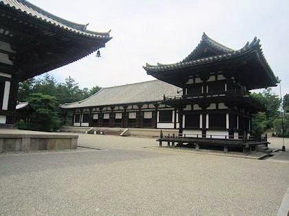 唐招提寺の鼓楼 講堂 金堂