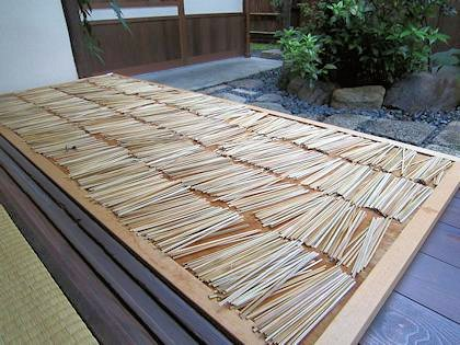 あぶり餅の竹串(乾燥中)