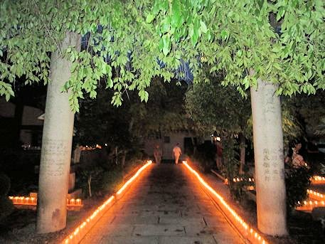 夜市祭の千本ロウソク