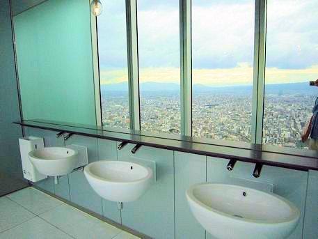 あべのハルカス展望台のトイレ洗面台