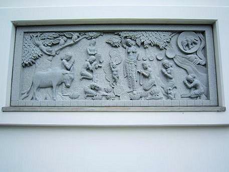 帯解寺の仏伝レリーフ