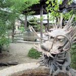 帯解寺の龍