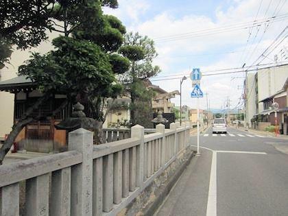 御所恵比須神社から御所市役所への道