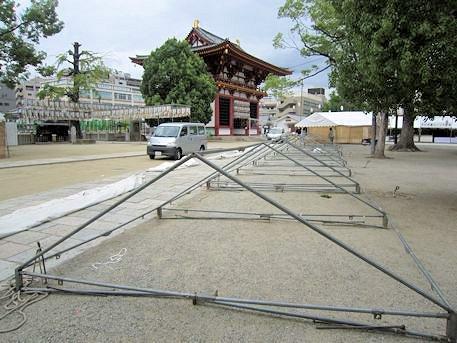 四天王寺のテントの骨組