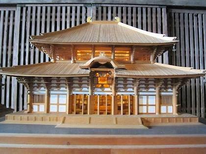江戸時代の東大寺大仏殿