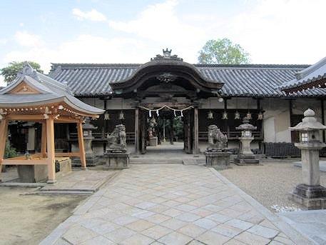 薬園八幡神社の神門