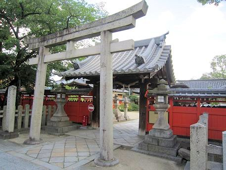 薬園八幡神社の鳥居