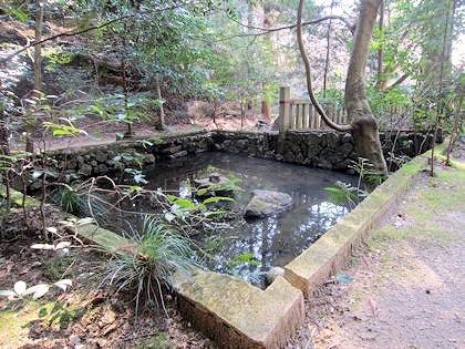 穴師坐兵主神社の池