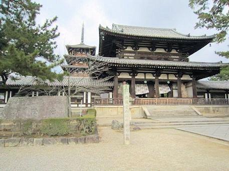 法隆寺中門と五重塔