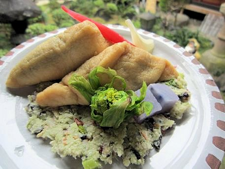 菜の花とおからの稲荷寿司