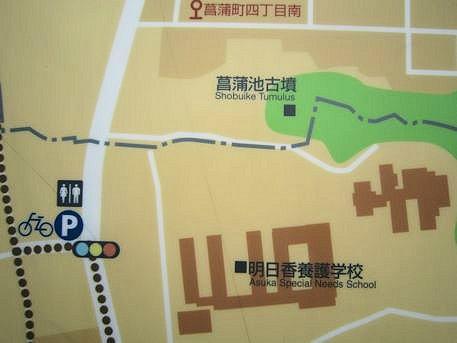 菖蒲池古墳の周辺地図