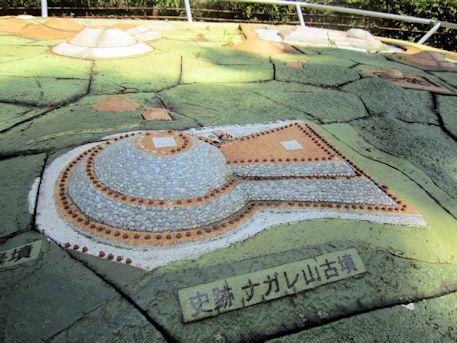 ナガレ山古墳の模型