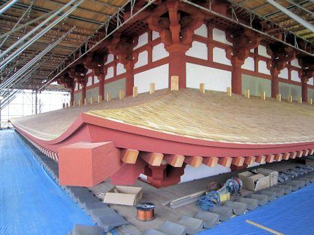 興福寺中金堂再建現場