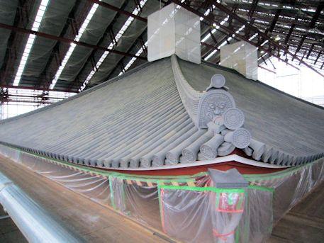 興福寺中金堂の再建現場
