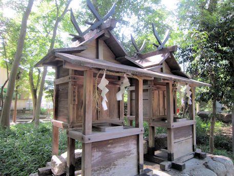 鍵取神社と笛吹神社