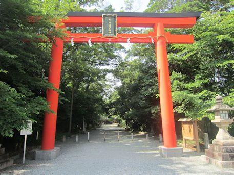 鏡作神社の鳥居