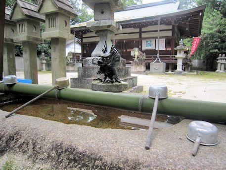 村屋神社の手水