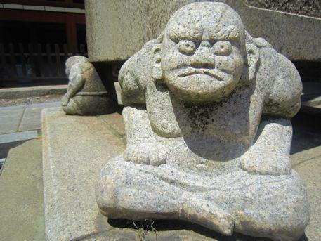 久米寺の邪鬼
