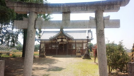姫皇子命神社の鳥居