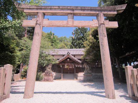 久米御縣神社の鳥居