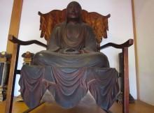 達磨寺の木造達磨坐像