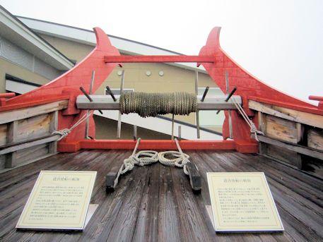 遣唐使船の船首