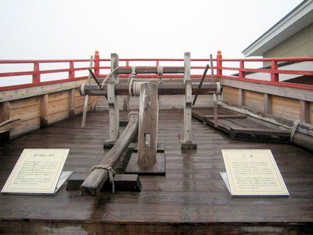 遣唐使船の船尾