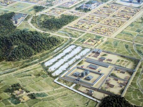 飛鳥寺と甘樫丘