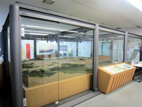 藤原京資料室の千分の一模型