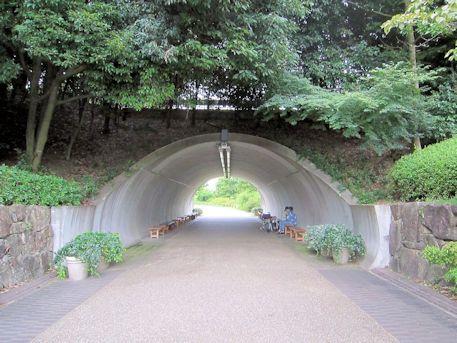馬見丘陵公園のトンネル