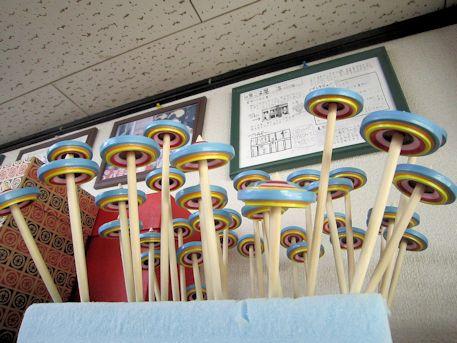 伝統工芸品の京こま
