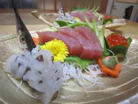 細魚のお造り